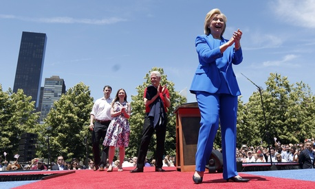 Former Secretary of State Hillary Rodham Clinton formally enters the 2016 presidential race with a June 13 speech in New York's Roosevelt Island.