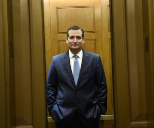 Republican presidential candidate, Sen. Ted Cruz, R-Texas, gets on an elevator on Capitol Hill in Washington, Thursday, June 4, 2015.