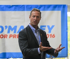 Democratic presidential hopeful former Maryland Gov. Martin O'Malley speaks in New Castle, N.H., Saturday, June 13, 2015.