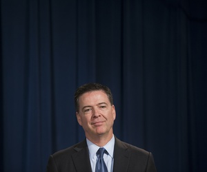 FBI Dir. James Comey during a news conference at the Justice Department in Washington, Thursday, June 18, 2015.