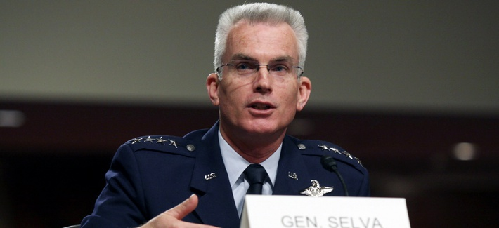 US Air Force Gen. Paul Selva testifies on Capitol Hill in Washington, Tuesday, March 11, 2014.