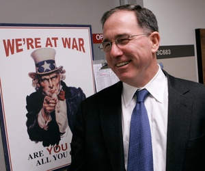 Michael G. Vickers, former Assistant Secretary of Defense for Special Operations/Low-Intensity Conflict & Interdependent Capabilities, speaks with The Associated Press during an interview at the Pentagon in this Nov. 16, 2007 file photo.