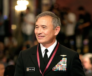 Adm. Harry Harris, the new head of the U.S. Pacific Command, attends the opening of the International Institute for Strategic Studies Shangri-la Dialogue, or IISS 14th Asia Security Summit Friday, May 29, 2015, in Singapore.