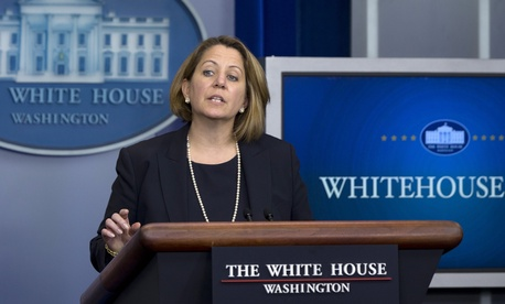 Assistant to the President for Homeland Security and Counterterrorism Lisa Monaco speaks during the daily news briefing at the White House, in Washington, Wednesday, June 24, 2015.