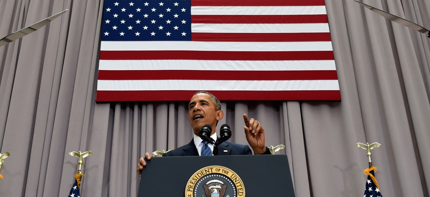 President Barack Obama speaks about the nuclear deal with Iran, Wednesday, Aug. 5, 2015, at American University in Washington.