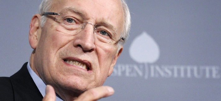 In this Oct. 6, 2011, file photo former Vice President Dick Cheney speaks at the third annual Washington Ideas Forum at the Newseum in Washington.