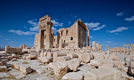 The Temple of Bel before its recent destruction by Islamic State militants.