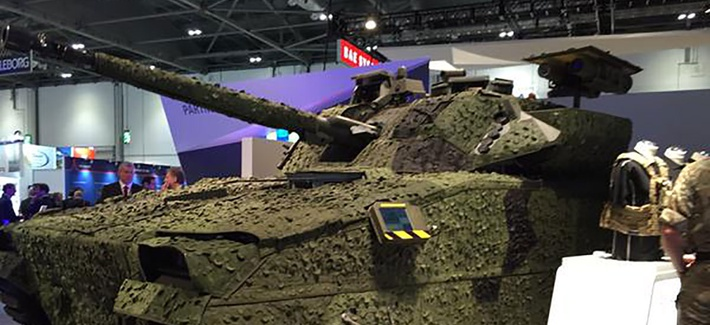 The BAE Systems Inc. CV9035 infantry fighting vehicle at the Defence & Security Equipment International, or DSEI, conference in London.
