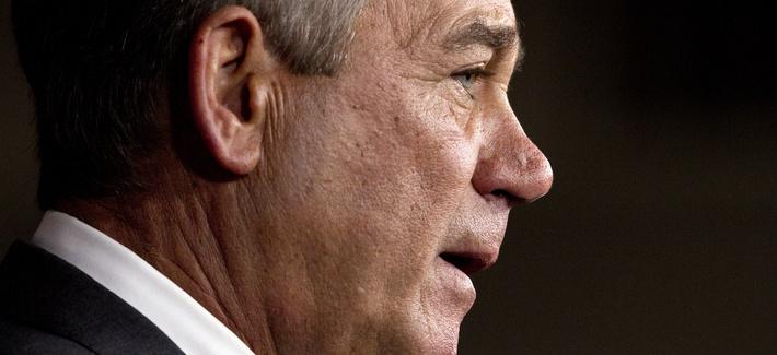 House Speaker John Boehner of Ohio speaks during a news conference on Capitol Hill in Washington, Friday, Sept. 25, 2015.