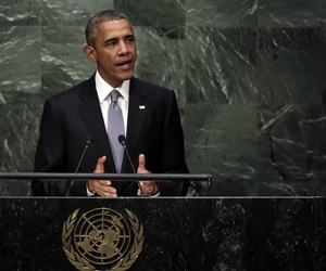 U.S. President Barack Obama addresses the 70th session of the United Nations General Assembly on Sept. 28, 2015.
