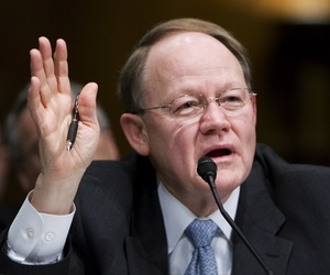 Director of National Intelligence Mike McConnell testifies on Capitol Hill in Washington, Wednesday, Feb. 27, 2008, before the Senate Armed Services Committee hearing on current and future worldwide threats.