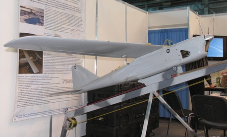 Russian drone Orlan-10 at InterAeroCom 2010, St. Petersburg.
