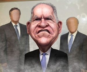 An illustration of CIA director John Brennan