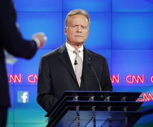 Democratic presidential candidate former Virginia Sen. Jim Webb listens during the CNN Democratic presidential debate Tuesday, Oct. 13, 2015, in Las Vegas.