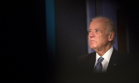Vice President Joe Biden participates in a tribute to former Vice President Walter Mondale, Tuesday, October 20, 2015, at George Washington University in Washington, D.C.