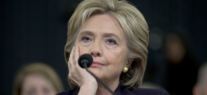 Former Secretary of State Hillary Clinton endured a partisan 11 hour marathon before the House Benghazi Committee in Washington, Thursday, Oct. 22, 2015.