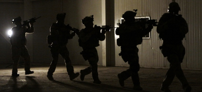 In this Jan. 12, 2010 file photo, members of the Iraqi Counter Terrorist Forces conduct a live-fire exercise at their base in Baghdad, Iraq.