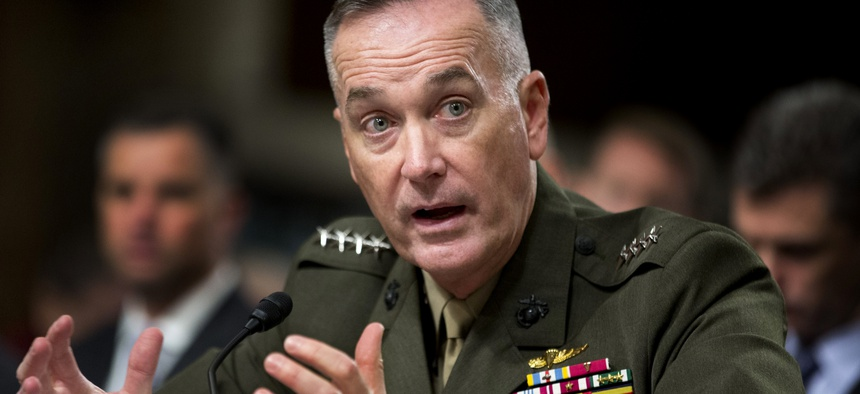 Marine Gen. Joseph Dunford, Jr. testifies on Capitol Hill in Washington, Thursday, Nov. 15, 2012, before the Senate Armed Services Committee.