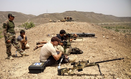 U.S. special forces and French special operations snipers train in Djibouti, May 2013.