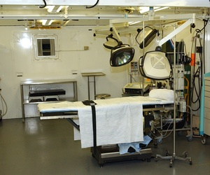 Detainee hospital operating room at Camp Delta, Guantanamo Bay, Cuba.