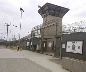 The entrance to Camp 5 and Camp 6 at the U.S. military's Guantanamo Bay detention center.