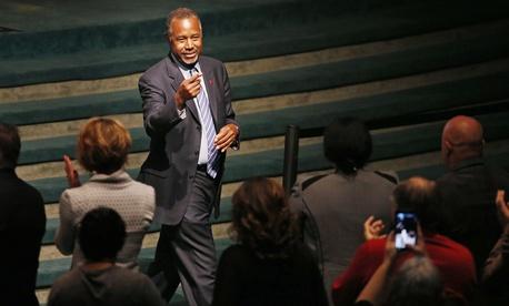 Republican presidential candidate Dr. Ben Carson speaks at the International Church of Las Vegas Sunday, Nov. 15, 2015, in Las Vegas.