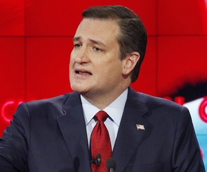 Ted Cruz speaks during the CNN Republican presidential debate.