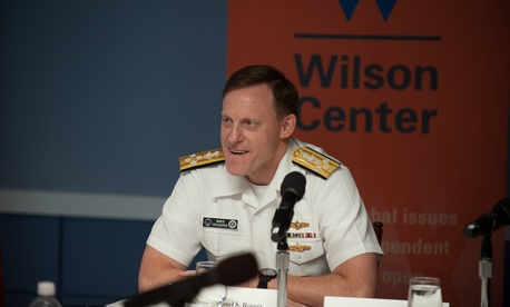 Adm. Michael Rogers at a Sept. 8, 2015 briefing.