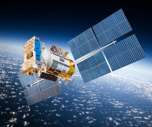 Artistic rendering of a satellite.