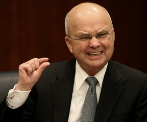 CIA Director Michael Hayden gestures during a news conference at CIA headquarters in Langley, Va., Thursday, Jan. 15, 2009.