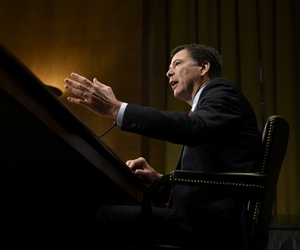 FBI Director James Comey testifies on Capitol Hill in Washington, Wednesday, Dec. 9, 2015, before the Senate Judiciary Committee.