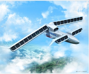An artistic representation of the LightningStrike VTOL-X plane concept.