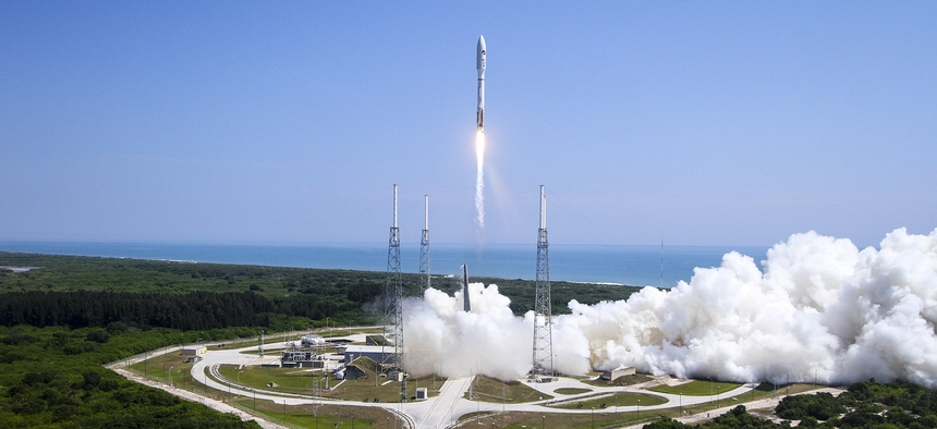 The Air Force and its mission partners successfully launched the AFSPC-5 mission aboard the Space and Missile Systems Center procured United Launch Alliance Atlas V launch vehicle at Cape Canaveral Air Force Station, Florida, May 20, 2015.