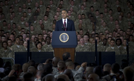 President Barack Obama addresses U.S. Service members and their families during a visit to Fort Bliss, Texas, Aug. 31, 2012.