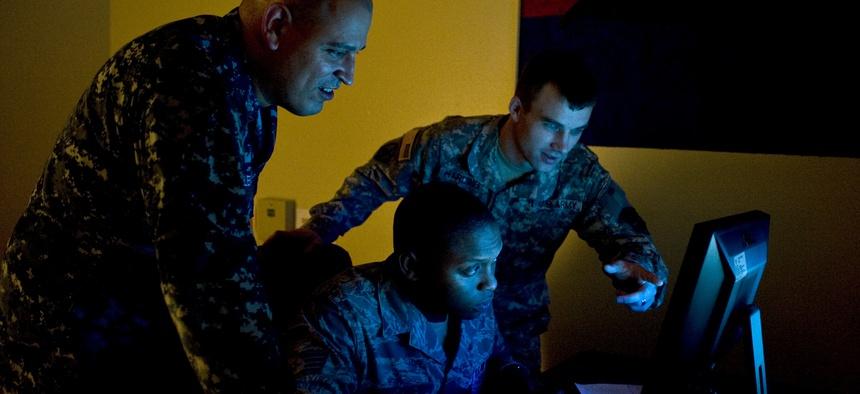 U.S. Navy Petty Officer 1st Class Joel Melendez, Naval Network Warfare Command information systems analysis.