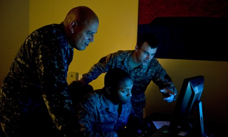 U.S. Navy Petty Officer 1st Class Joel Melendez, Naval Network Warfare Command information systems analysis.