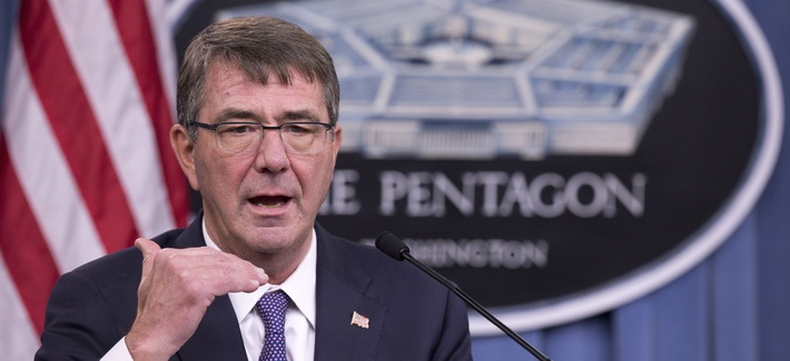 Defense Secretary Ash Carter speaks to reporters, Dec. 11, 2015, at the Pentagon.