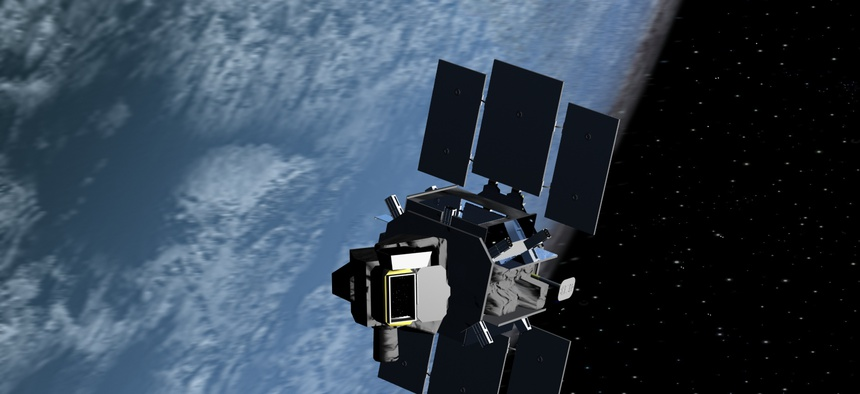 The Air Force's Space Based Space Surveillance satellite keeps tabs on spacecraft and orbiting junk 390 miles up.