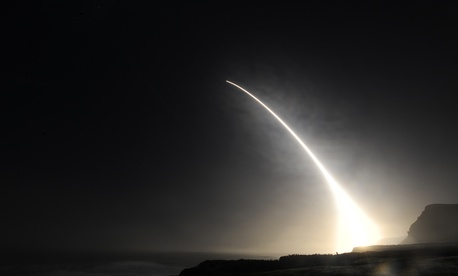 An unarmed Minuteman III intercontinental ballistic missile launches during an operational test at 11:34 p.m., Feb. 20, 2016, Vandenberg Air Force Base, Calif.
