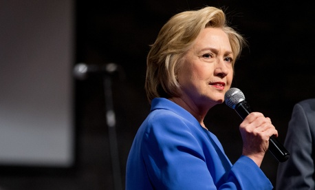 Democratic presidential candidate Hillary Clinton speaks at St. Stephen Baptist Church during a campaign stop in Louisville, Ky., Sunday, May 15, 2016.