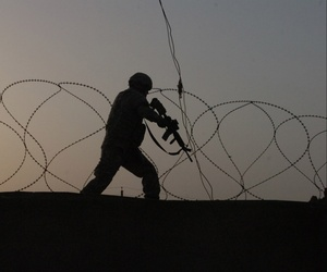 A U.S. soldier in Baghdad, May 2007.