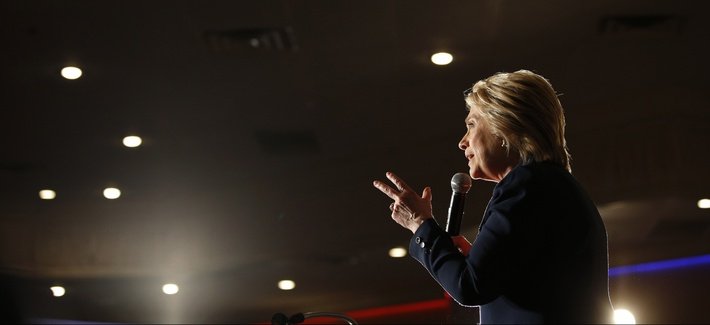 Democratic presidential candidate Hillary Clinton speaks at a rally, Thursday, June 2, 2016, in El Centro, Calif.