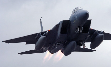 A U.S. Air Force F-15. In February, F-15s dropped bombs on targets in Libya.