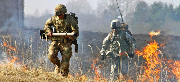 In the culminating training exercise here in Grafenwoehr, First Rock executes Company level live fires, March 16, 2015. Company C (MOD) and A (Attack) take center stage by utilizing combined arms assets in order to assault an enemy position and fight off