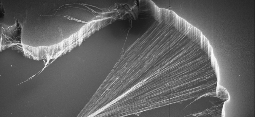 Researchers' first attempt at genetically modifying Geobacter made the bacteria as conductive as man-made carbon nanotubes, pictured here.
