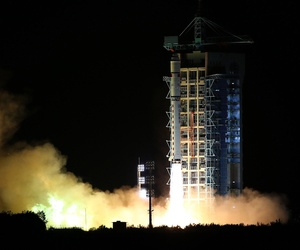 Early Tuesday, Aug. 16, China launched the world's first quantum satellite, pictured here in a photo released by China's state news agency.