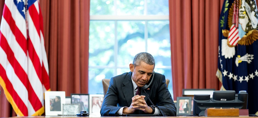 President Barack Obama at the White House, August 4, 2015.