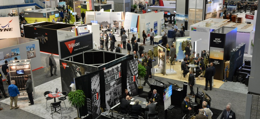 There are more than 600 exhibitors at this year's annual meeting of the Association of the United States Army.