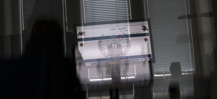 A screenshot of the Fancy Bears website fancybear.net seen on a computer screen in Moscow, Russia, Wednesday, Sept. 14, 2016.