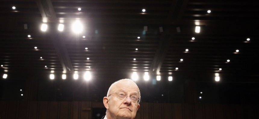 Director of the National Intelligence James Clapper arrives on Capitol Hill in Washington, Tuesday, Feb. 9, 2016, to testify before the Senate Intelligence Committee hearing on worldwide threats.